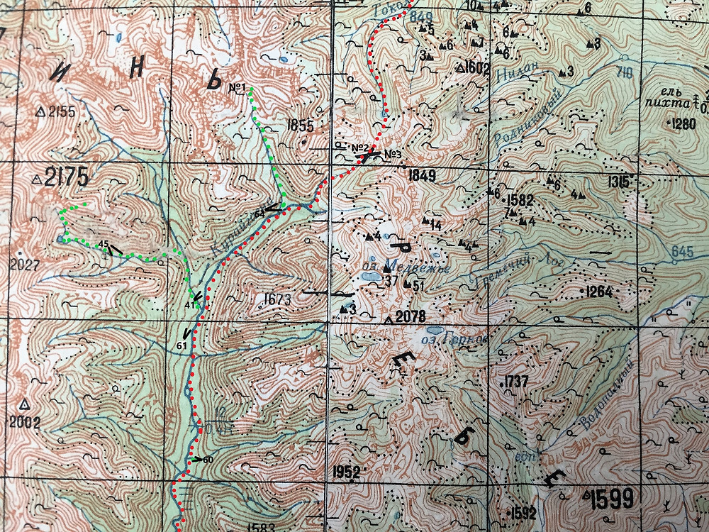 Схема реки  Курайгагна| skitour.club| Блог Сергея Чеботова