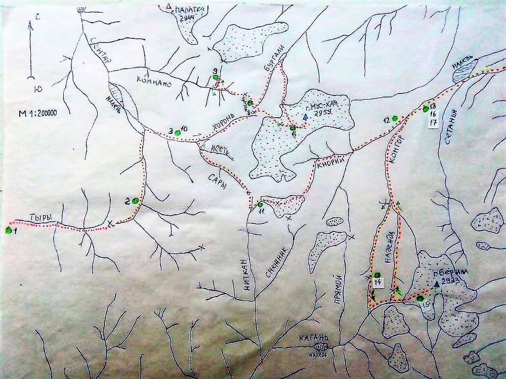 Схема маршрута| skitour.club| Блог Сергея Чеботова