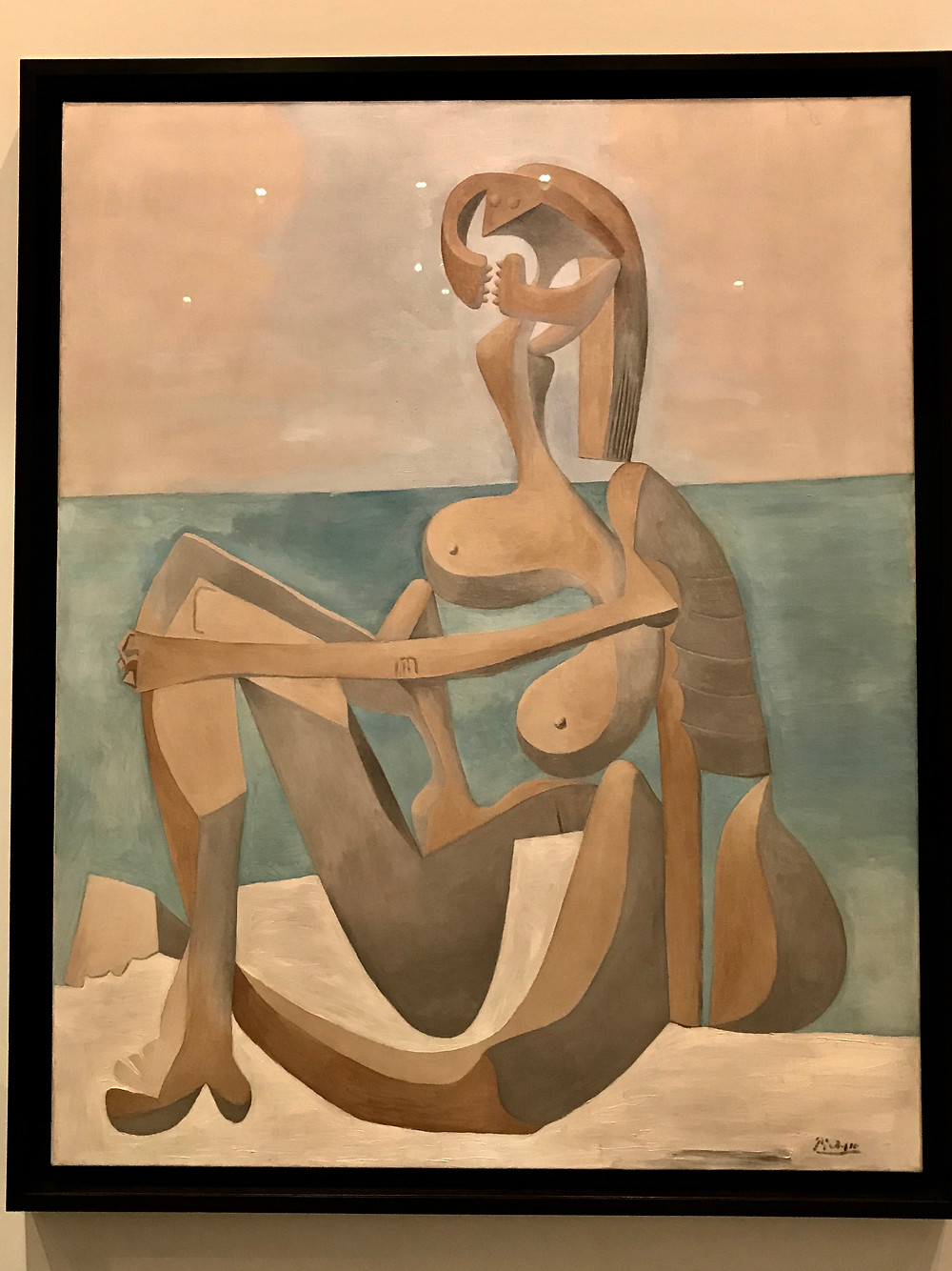 """Picasso - """"Seated bather"""""""
