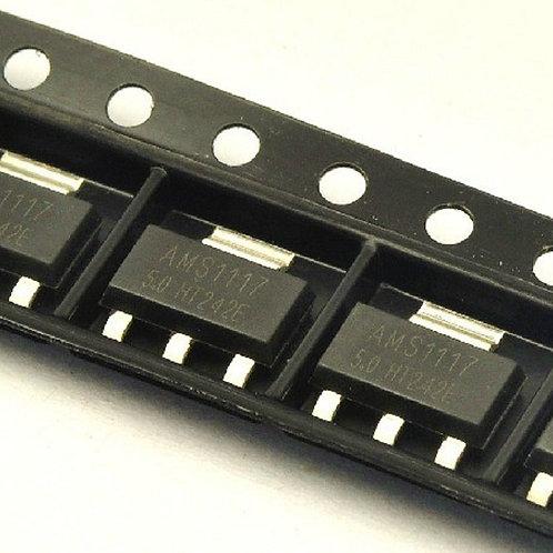 10 Unidades Ams1117 Regulador Tensão Smd 5.0v 1a Sot-223 Esp8266 Arduino
