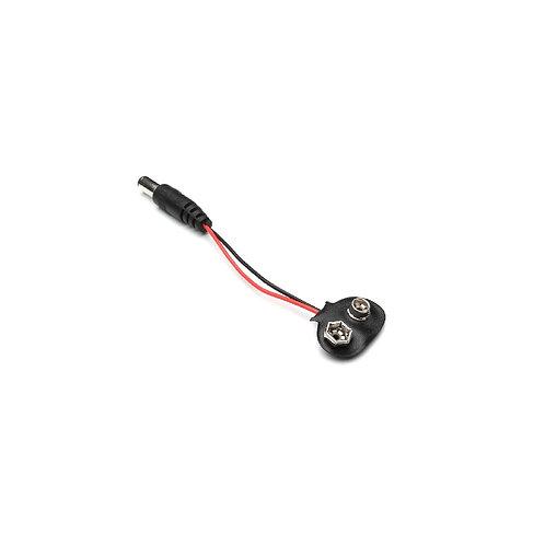Clip Para Bateria 9v Com Jack P4 5mm, Ideal Para Arduino