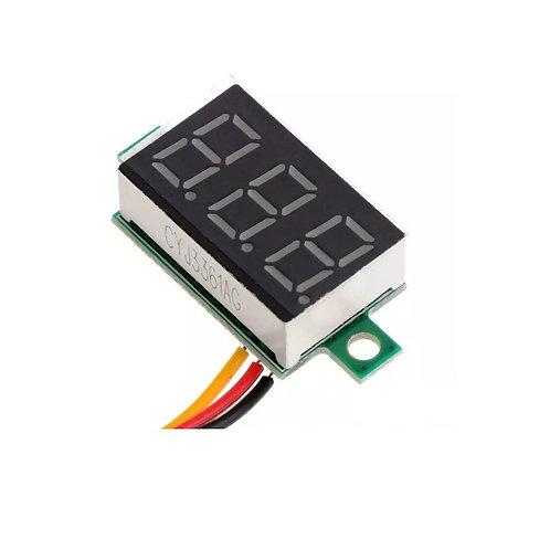 Mini Voltimetro Digital 5-30vdc Bateria Som Fonte Esp8266 Arduino