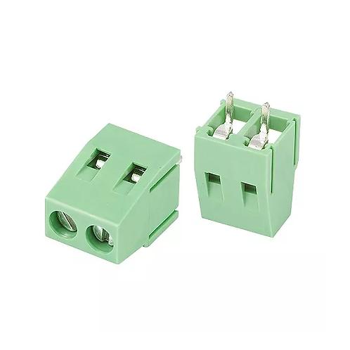 10 Unidades Borne Kf350 3t Verde 3.5 Conector Duplo Arduino