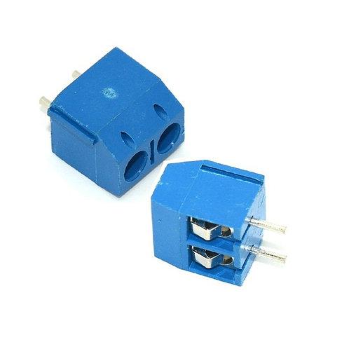 10 Unidades Borne Kf301 2t Azul 5mm Conector Triplo Esp8266