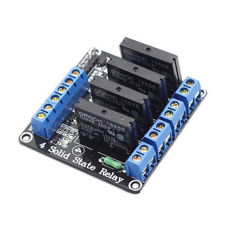 Rele 4 Canais Estado Sólido Ssr Modulo Arduino Esp8266