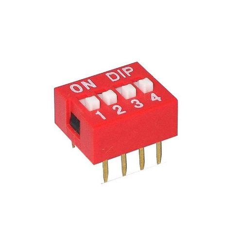 10 Unidades Dip Switch 4 Vias 180º Esp8266 Arduino Nodemcu