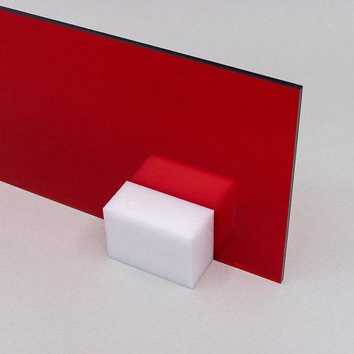 Acrilico Vermelho Translucido 15x15cm 3mm Corte Laser Cnc