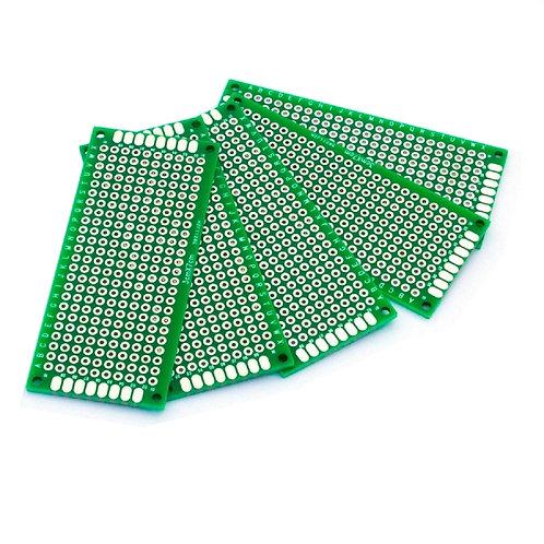 10 Unidades Pcb 3x7 Cm Mini Protoboard Arduino Esp8266 Rpi