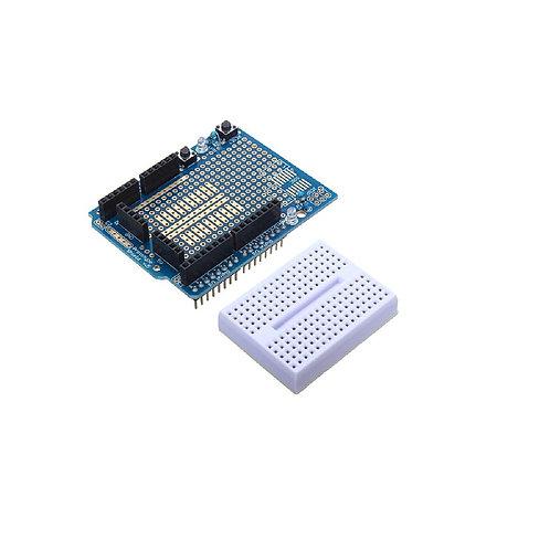 Shield Pcb Placa De Desenvolvimento + Protoboard 170 Arduino