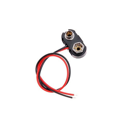 10 Unidades Clip Para Bateria 9v Com Fio Esp8266 Arduino