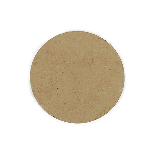 Mdf 10x10cm 3mm Circulo, Redondo, Porta Copos CNC Lasercut