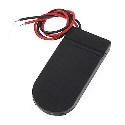 Caixa Case Cr2032 6v Suporte Chave On/off P/ 2 Baterias (D) X 10 Unidades