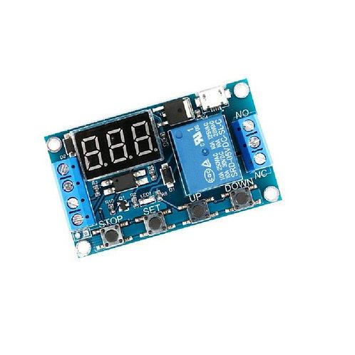 Rele Temporizador Atraso 12v Com Display 0~999 Seg Arduino Esp8266