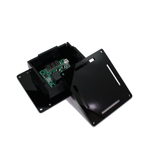 Caixa Case p/ Montagem Circuito Eletrônico PP PRETA MDF ESP8266