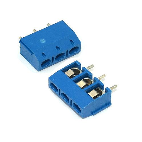 10 Unidades Borne Kf301 3t Azul 5mm Conector Triplo Esp8266