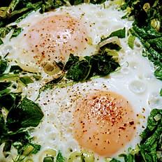 Δυο Αυγά με χορταρικά