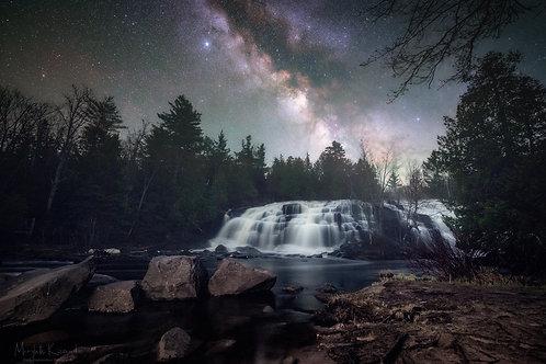Bond Falls Under The Stars - Landscape Orientation