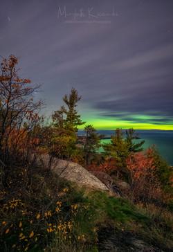 Aurora over Marquette, MI