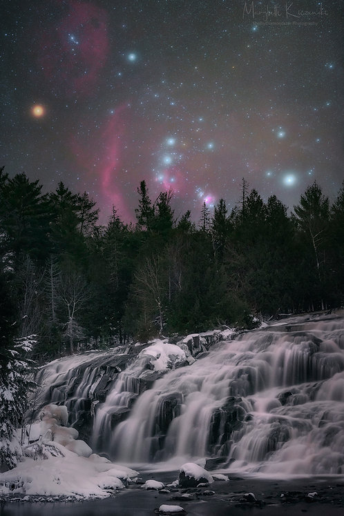 Winter Skies over Bond Falls