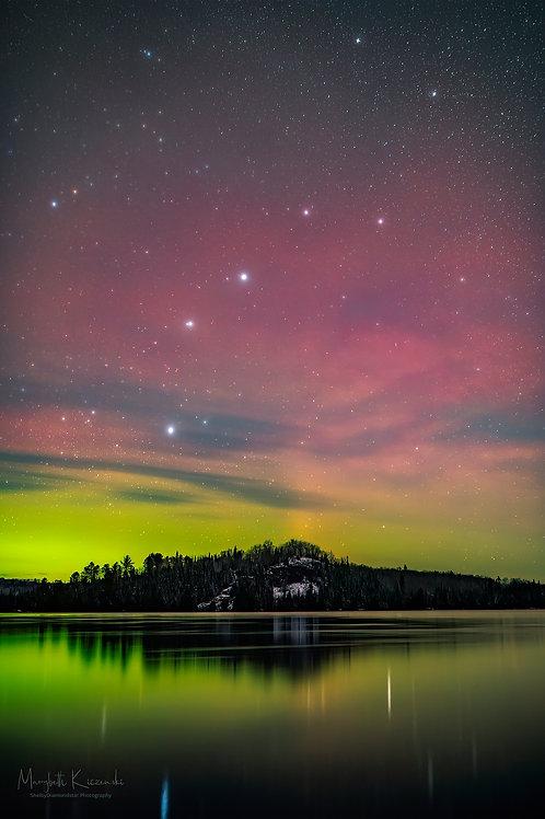 Big Dipper in Aurora's Light
