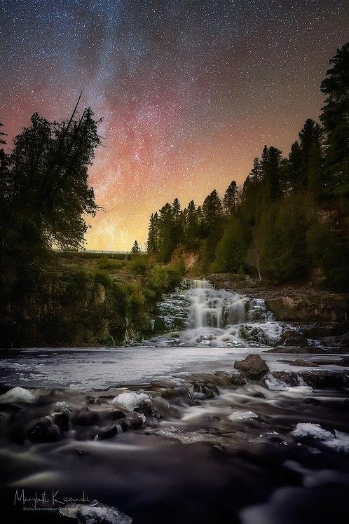 Stars over Gooseberry Falls