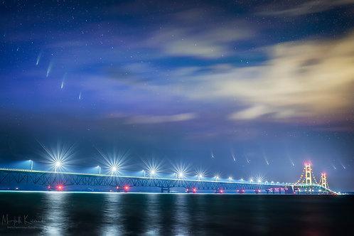 The Motion of a Comet - Mackinac Bridge