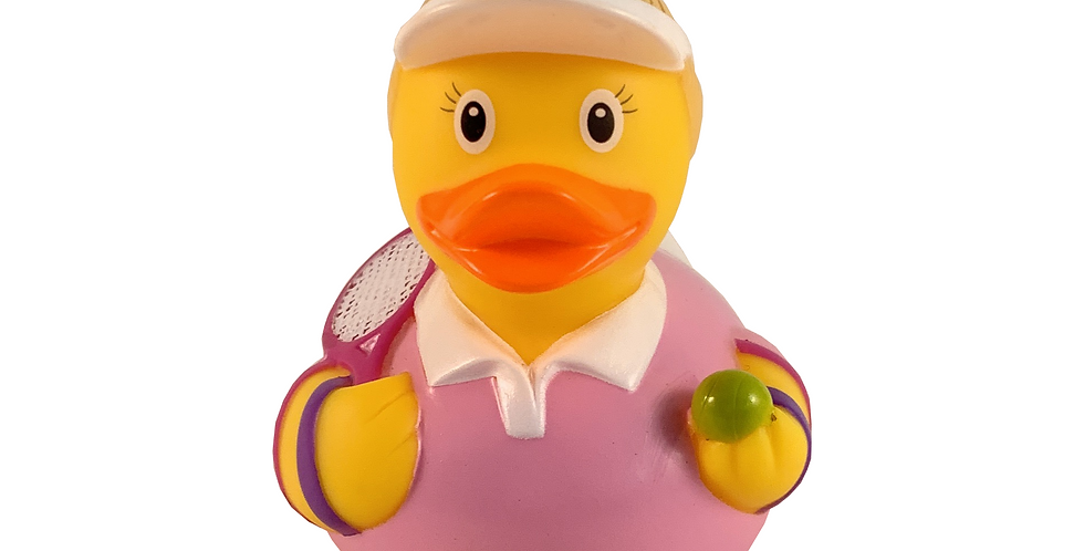 Tennis Player Lady Rubber Duck