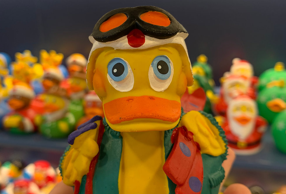 Skier Eco Rubber Duck