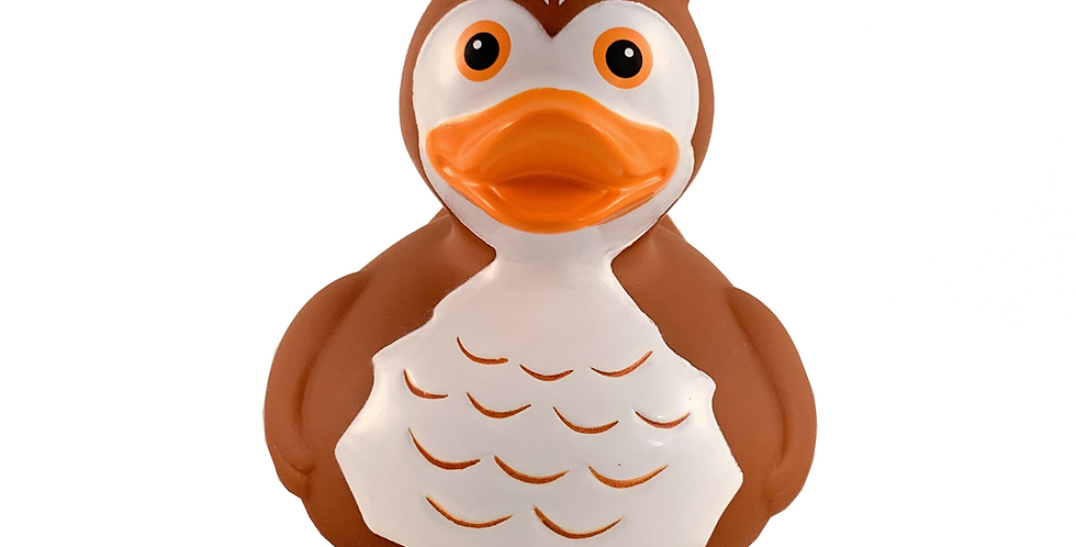 Owl Brown Rubber Duck