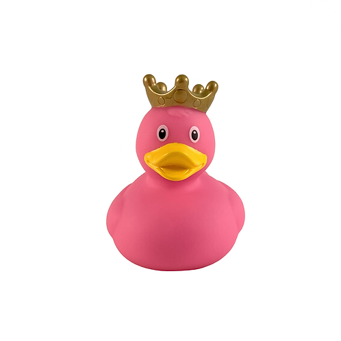 Pink Crown Rubber Duck