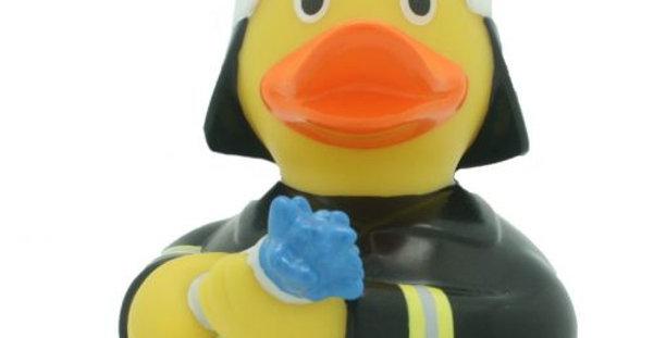 Black Fireman Rubber Duck