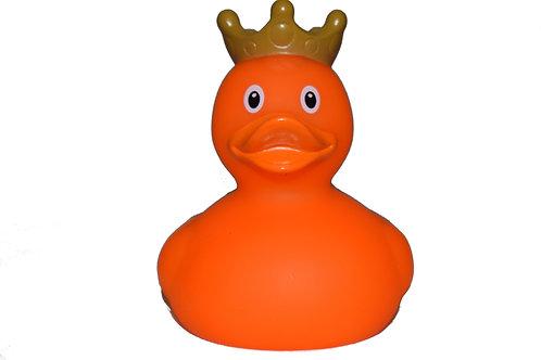 Orange Crown Rubber Duck