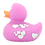 Thumbnail: Purple With Silver Hearts Rubber Duck