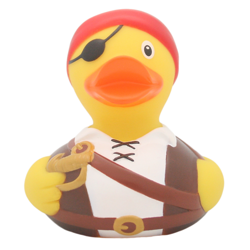 Brown Pirate  Rubber Duck