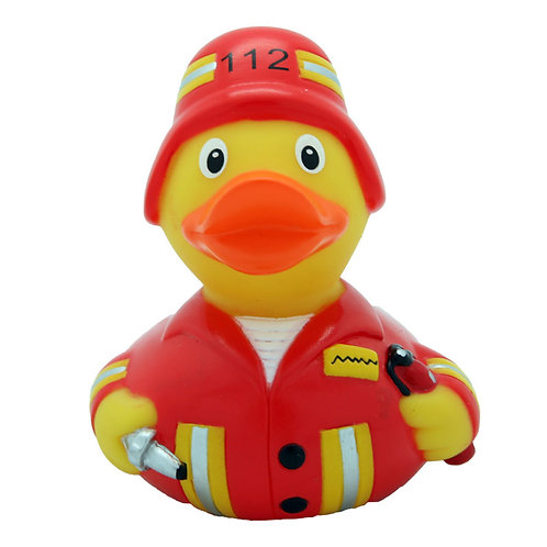 Red Fireman Rubber Duck