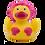 Thumbnail: Mermaid Rubber Duck Pink