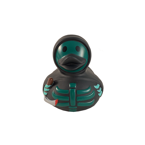Green Skeleton Rubber Duck