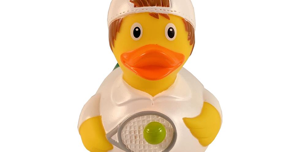 Tennis Player Man Rubber Duck