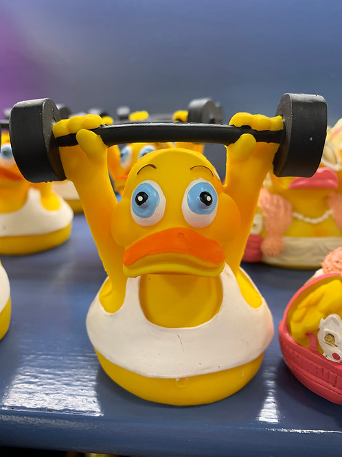 Weight Lifter Eco Rubber Duck