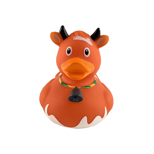 Brown Cow Rubber Duck