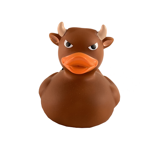 Bull Brown Rubber Duck