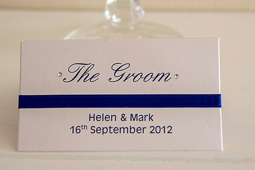 PLACE NAME WITH ADDED RIBBON AND DIAMANTE