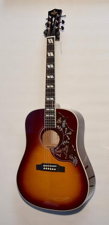 SIGMA Westerngitarre SDM -SG5 vollmassiv mit Case