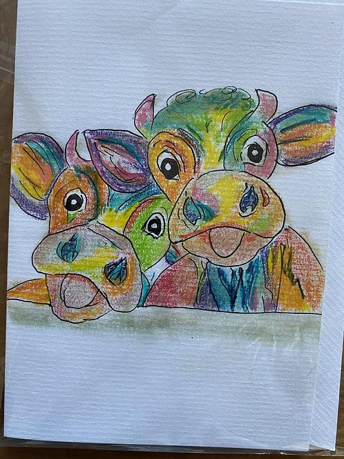 Carte - vaches couleurs