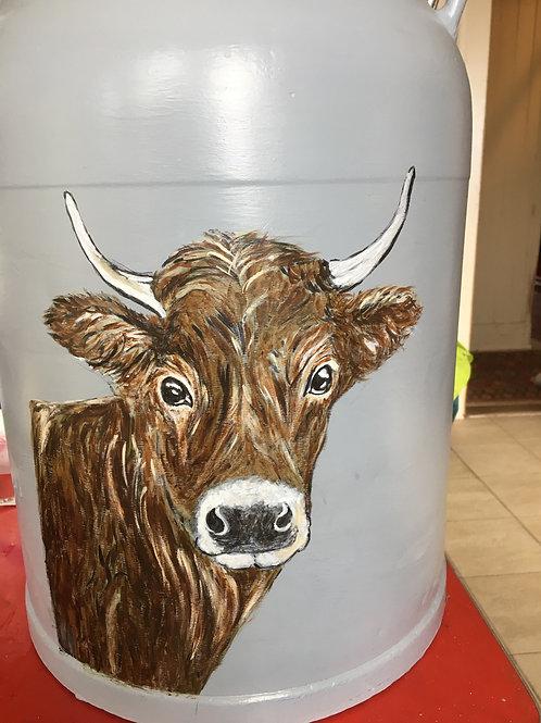 Boille à lait - vache 2 faces