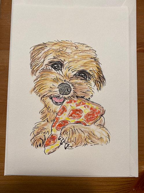 Carte - Chien pizza