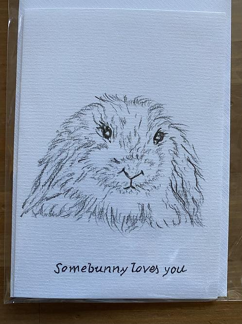 Carte - Bunny loves you