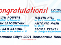 Announcing Roanoke City's 2021 Democratic Ticket