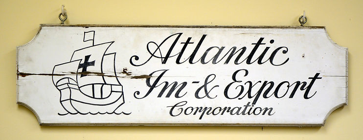 Atlantic Im & Export original sign