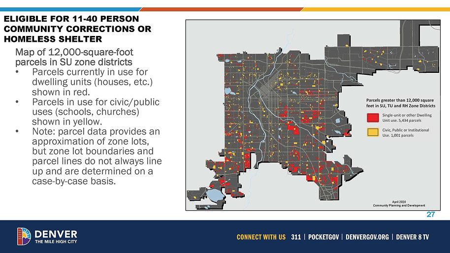 12,000 square foot parcel map denve homeless